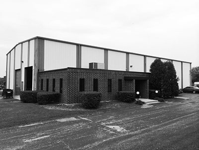 Black and white warehouse