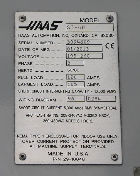 HAAS ST-40 Extra Performance CNC TURNING CENTER on